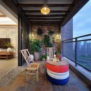 新中式阳台装修效果图欣赏
