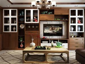 新中式电视柜装修效果图