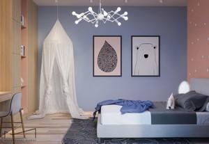 可爱温馨时尚儿童房设计装修效果图赏析,浅紫色的墙面设计,白色的浪漫装饰品,原木色的家具设计,整个空间看起来十分的简单舒适。