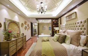 美式风格时尚精美别墅卧室设计装修图