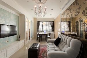 简欧风格温馨舒适70平米室内设计装修效果图