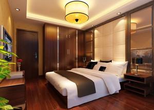 新中式风格古典精致卧室设计装修图