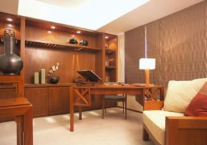 原木暖色中式风格书房装修效果图赏析