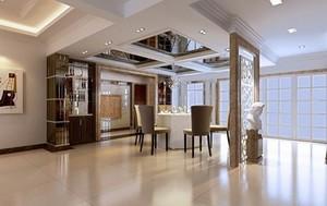现代简约风格别墅餐厅装修效果图