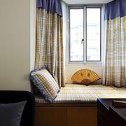 一居室新中式转角飘窗装修效果图