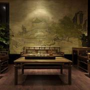 私人朴素风格小茶馆装修效果图