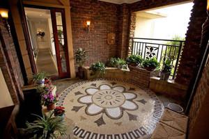 别墅门口入户花园装修图片