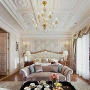 美式豪华窗帘效果图
