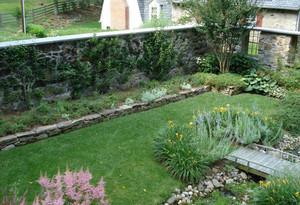 美式田园风格别墅花园装修效果图