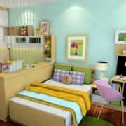 多功能书房兼卧室一体效果图赏析