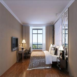 优雅法式两居室卧室装修效果图