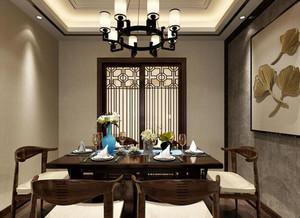 2018二居室中式餐厅照片墙效果图