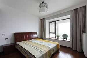 100平米中式风格卧室落地飘窗装修图片