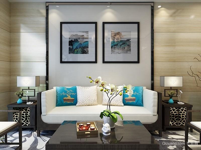 小一居室新中式客厅装修效果图