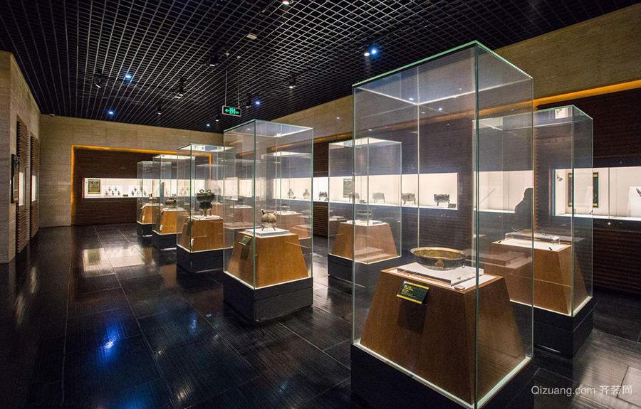 中式博物馆展柜效果图
