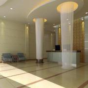 简约清新小型宾馆大厅装修效果图