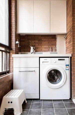 阳台洗衣机装修效果图
