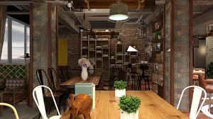简欧风格西餐咖啡厅装修效果图