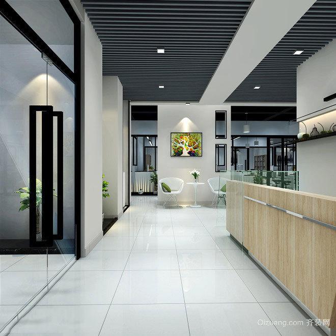 都市办公室办公区吊灯装修效果图