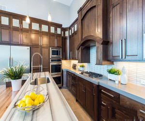美式厨房瓷砖效果图大全