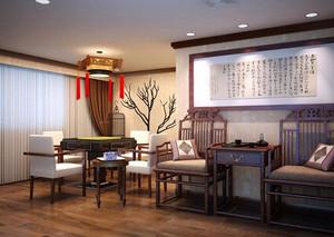 200平方新中式茶楼装修效果图