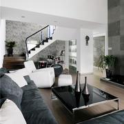 独栋别墅现代风格入户花园设计效果图