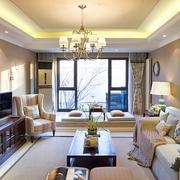 清晰小美式风格时尚客厅设计装修效果图