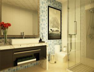 卫生间的陈设品是根据卫生洁具三大件的布局来添补充实的。主要是保证实用上的功能和安全,同时也起到点缀美化的作用。如在浴缸上方的窗台上放盆绿花,在空余的墙上挂幅玻璃马赛克壁挂等。
