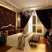 别墅高端大气的窗帘效果图