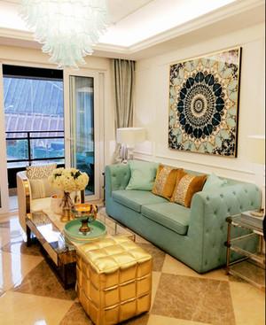 地中海风格蓝色清新客厅沙发装修效果图