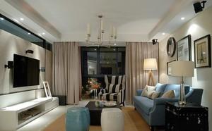 这款客厅窗帘的颜色显得非常的有气质和典雅,柔和的黄色带给家居更多的温馨感,而且整个卧室收拾的很是简约,所以窗帘也就没有太多的装饰,很符合环境哦