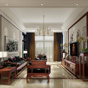 小户型中式古典风格客厅装修图