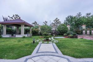 联排别墅新中式入户花园装修设计图