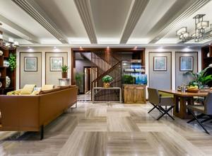 新中式别墅门厅玄关效果图