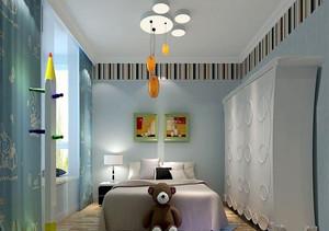 简约现代三居室儿童房飘窗装修效果图