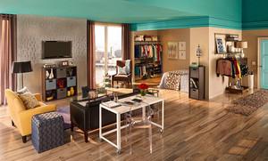客厅隔断一半做衣帽间装修案例