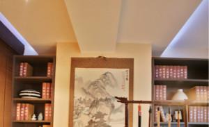 新中式书房吊顶造型设计效果图大全