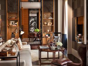 中式会客厅装修效果图