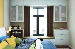 现代风格两居室飘窗收纳柜设计图片欣赏