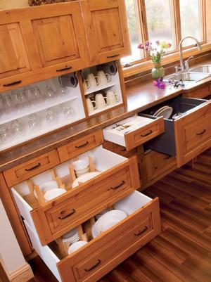 现代风格时尚精美厨房橱柜设计装修图