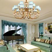 一居室法式田园风格客厅装修效果图