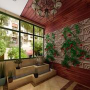 田园风格入户花园吊顶装修效果图