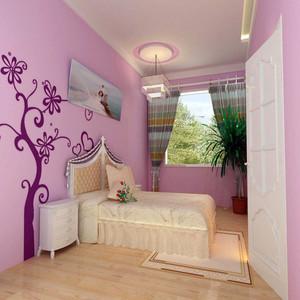主卧墙漆颜色效果图
