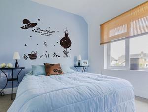 卧室床头墙贴装修案例
