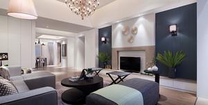 现代风格时尚精美客厅电视背景墙装修效果图