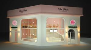蛋糕店玻璃橱窗效果图