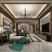 2018家庭古典中式装修客厅装修效果图