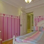 儿童房壁纸装修效果图女孩