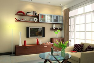 现代简约客厅电视柜设计装修效果图