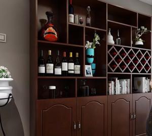 墙壁小酒柜装修效果图